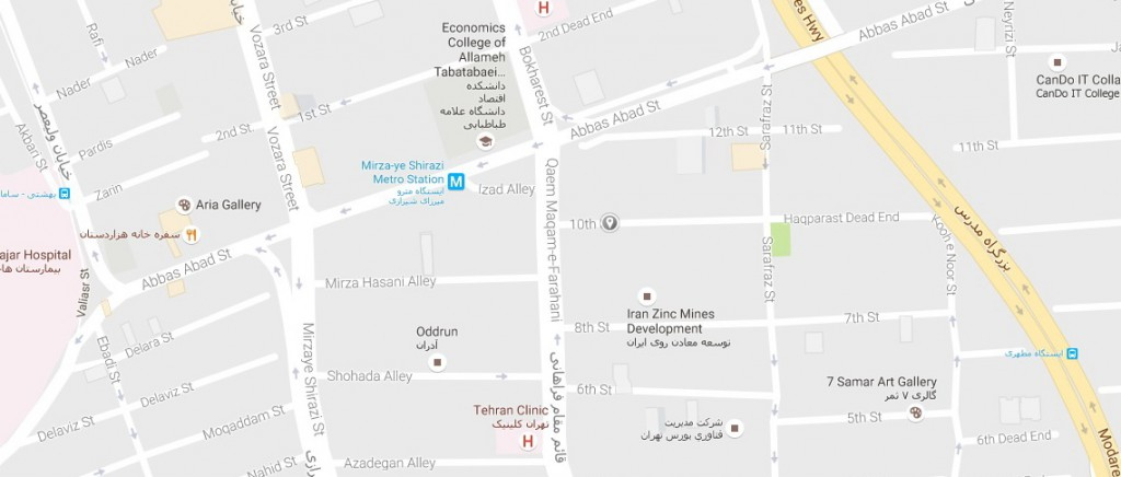تهران، خیابان قائم مقام فراهانی، کوچه دهم، پلاک ۲۴ جدید، واحد ۷
